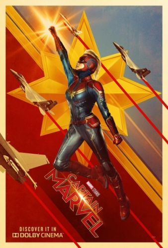 Stylish New Captain Marvel Posters Blast Into Space