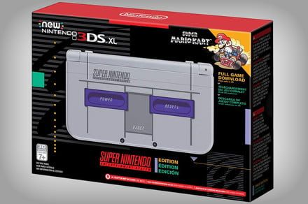 Get your Mario Kart nostalgia on with the 3DS XL Super NES Edition