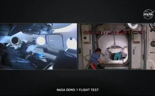SpaceX Crew Dragon docks with ISS using automated system