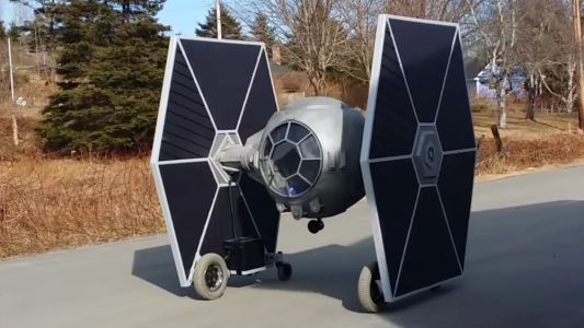 STAR WARS Fan Builds an Electric Powered Drivable TIE Fighter