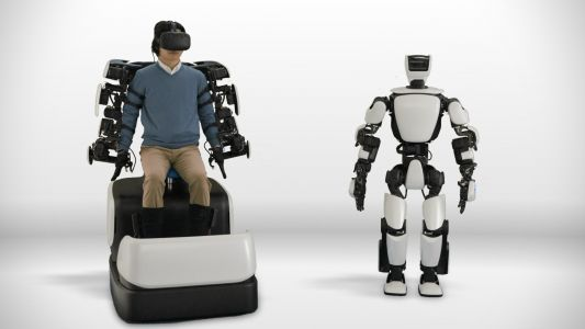 Toyota's T-HR3 robot mimics your hand, arm and foot movements