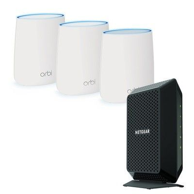 Get Netgear's Orbi mesh networking system and CM700 cable modem for $314