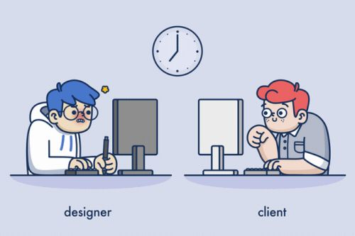These sleek animations highlight the relationship between designers and clients