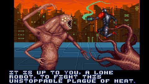 Face The Meaty Megabeast In Rogueish Metroidvania A Robot Named Fight