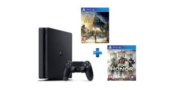 PS4 Slim 1 To + For Honor + Assassin's Creed Origins à 289€ seulement