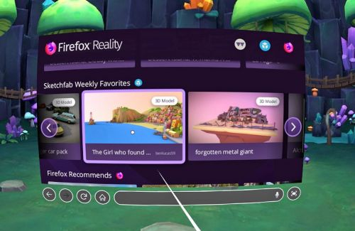 Firefox brings the thrills of web browsing to VR