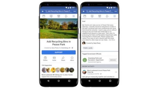 Facebook Community Actions to let users make petitions for changes