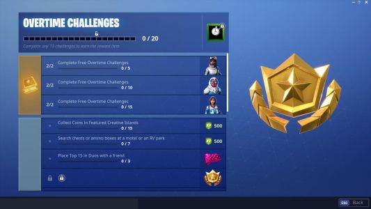 Fortnite Overtime Challenges: How To Get Free Battle Pass For Season 8