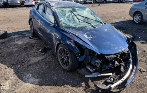 Tesla Model 3 rollover crash has a good ending for the driver