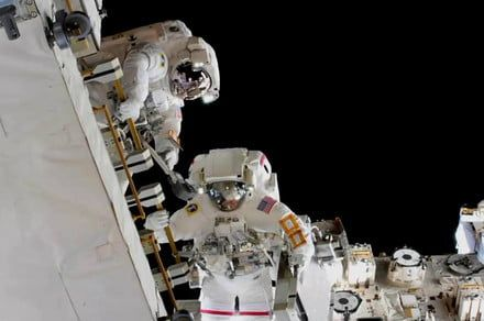 Spacewalk success as astronauts upgrade batteries on the ISS