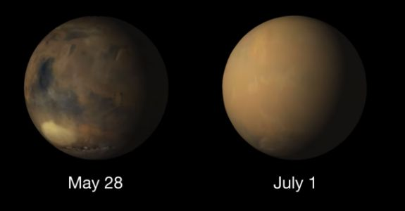 The massive dust storm on Mars has completely changed how the planet looks