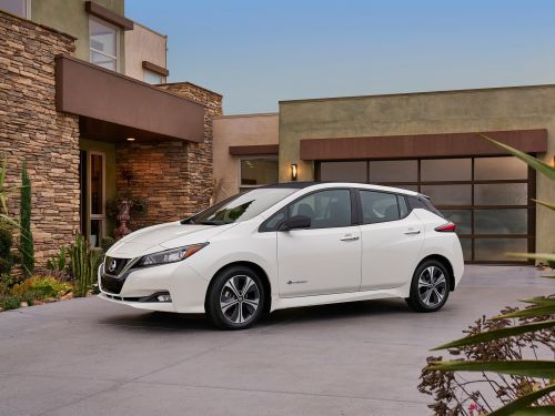 The new Nissan Leaf is a big improvement on the old car - but it's up against tough design competition from the Tesla Model 3