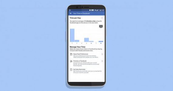 Facebook launches a dashboard for tracking the time you spend in its app