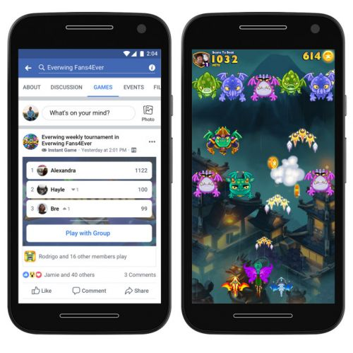 Sidestepping App Stores, Facebook Lite and Groups get Instant Games