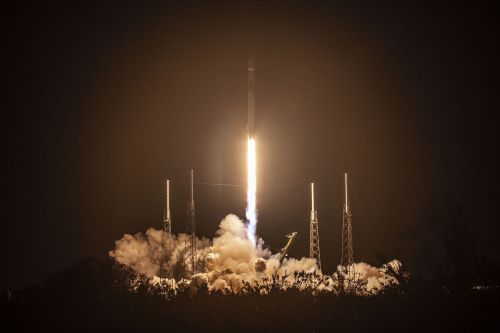 Watch SpaceX launch a trio of spacecraft, including a lander bound for the Moon