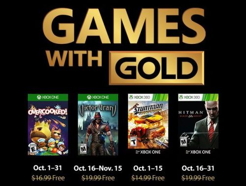 Free Xbox One Games With Gold Revealed For October 2018