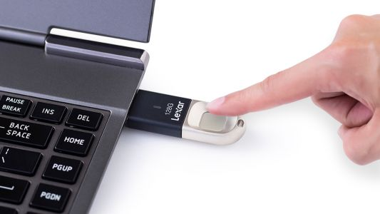 Keep your images safe with Lexar's new fingerprint USB 3.0 drive