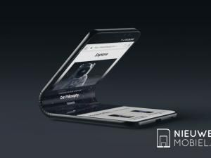 Samsung Galaxy F Folding Flexible OLED Phone Pictured In Concept Renders