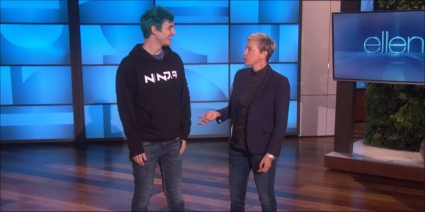 Watch Ninja Try To Teach Ellen Degeneres How To Play Fortnite In Hilarious Clip