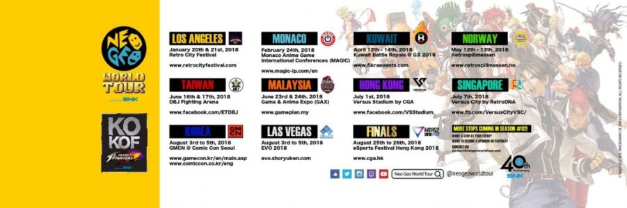 The NEO GEO World Tour Finals approaches on August 25th