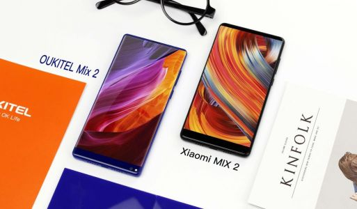 Video:  Oukitel Mix 2 compared to Xiaomi Mi Mix 2 in terms of design