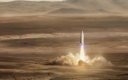 Musk renames Mars rocket 'Starship' and says 'later versions' will travel to new star systems