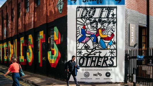 London's largest ever papercut art hits the streets