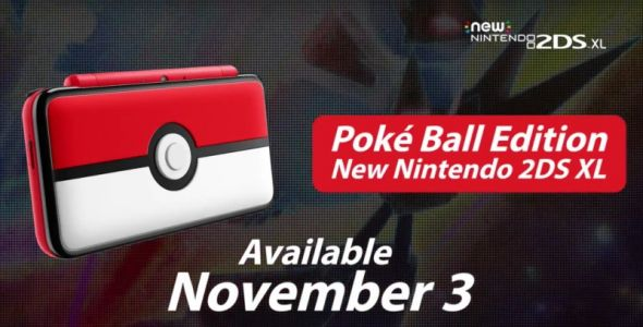 Nintendo Unveils New 2DS XL Models, Including A Pokéball Version