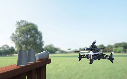 The crazy Parrot drone that picks things up and fires projectiles from a cannon is on sale on Amazon