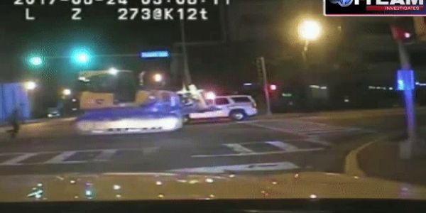 Bulldozer crushes cop car, leads police on ridiculous chase