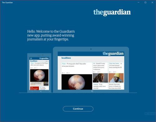 The Guardian's Windows 10 UWP app is dead