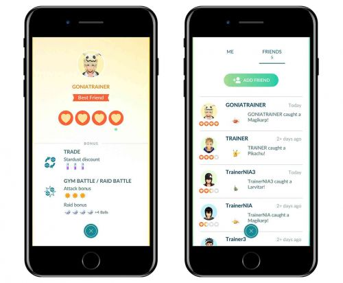 Pokémon Go adding friends and trading features
