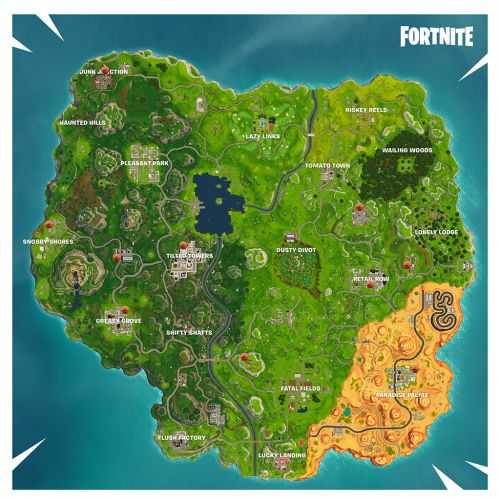 Fortnite Challenges: Basketball Court Hoop Locations