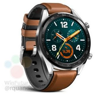 Leak shows the Huawei Watch GT that might launch alongside the Mate 20