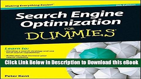 BEST PDF Search Engine Optimization For Dummies ONLINE