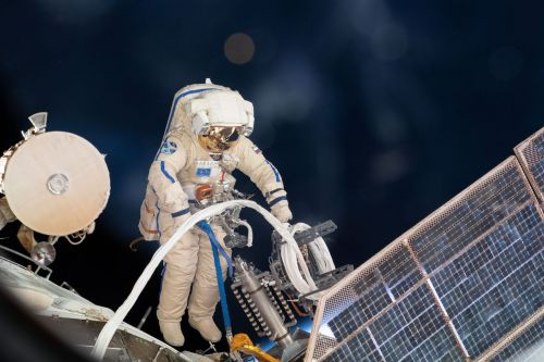 Russian cosmonauts are spacewalking to figure out the origin of a mysterious spacecraft hole
