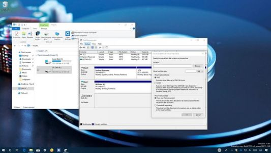How to create and set up a virtual hard disk on Windows 10