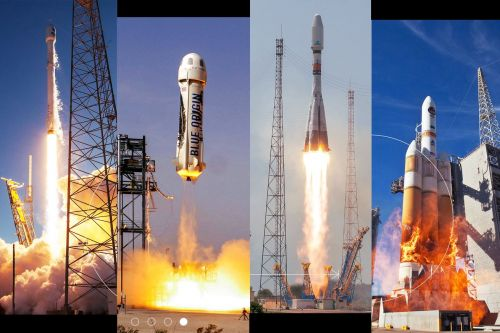 How to watch four rocket launches on a banner day for the space industry