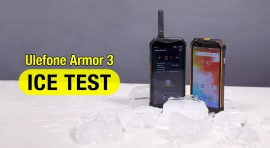 Video:  Ulefone Armor 3 buried in the ice for testing