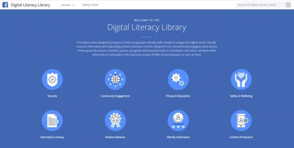 Facebook launches a digital literacy library aimed at educators