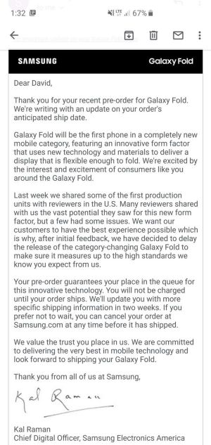 Samsung Galaxy Fold May Return Sooner Than Expected