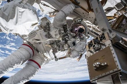 Astronauts install hi-def docking cameras for Crew Dragon, Starliner capsules