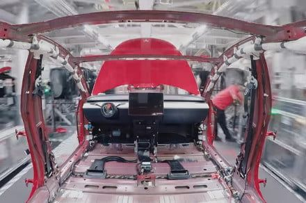 Mesmerizing time-lapse video shows how Tesla makes a Model 3