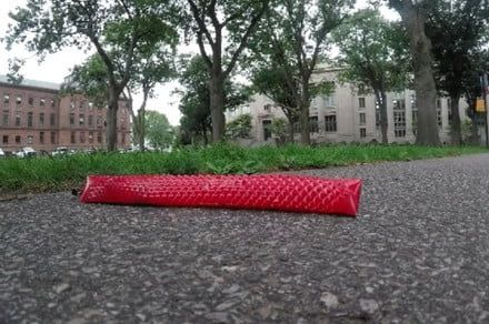 Watch this inflatable robot slither around Harvard using artificial snakeskin
