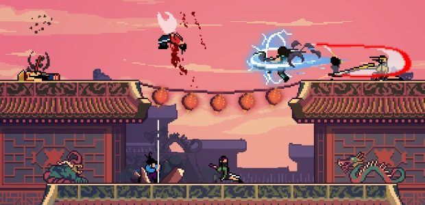 Roof Rage puts Smash, Samurai Gunn and martial arts movies in a blender