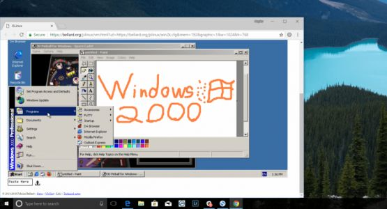 Relive the glory days of Windows 2000 in the comfort of a browser window