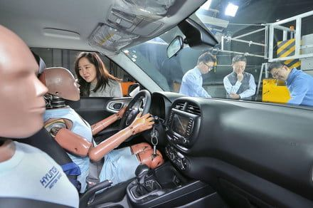 Hyundai has created the 'world's first multi-collision airbag system'