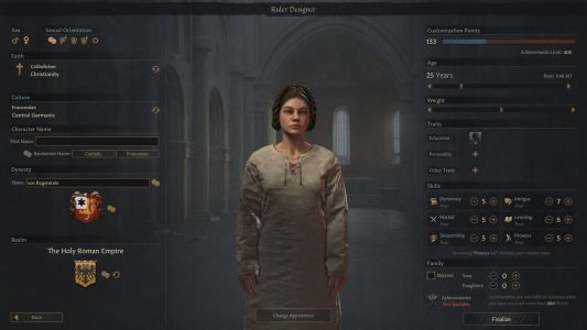 Crusader Kings 3 now lets you create your own character