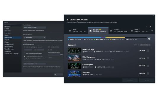 Steam's new storage manager will show you where your game's gigabytes are