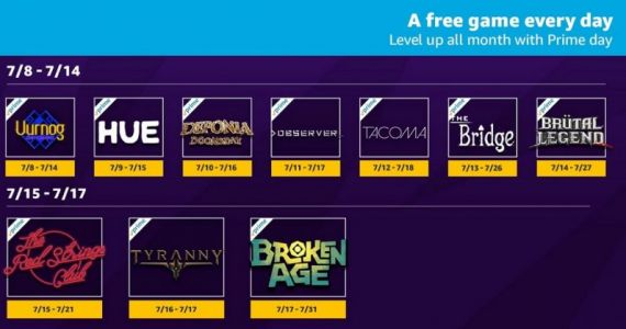 These are the Twitch games Amazon users get for free on Prime Day